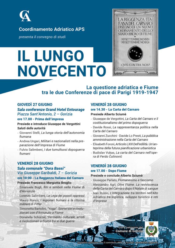 Coordinamento Adriatico affronta il centenario dell'impresa dannunziana