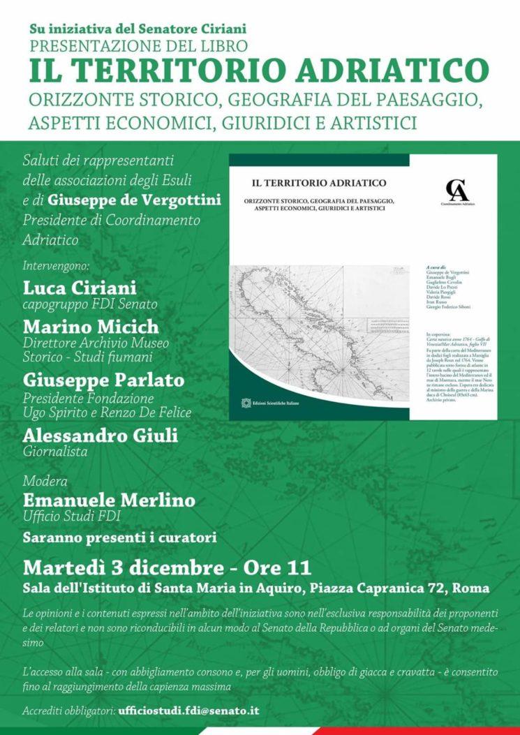 """Presentazione di """"Il territorio Adriatico"""""""