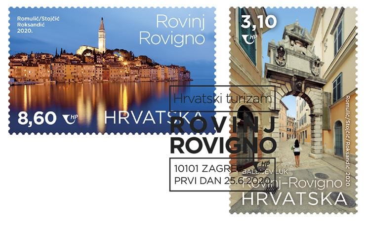 Le Poste croate hanno emesso i francobolli bilingui dedicati a Rovigno