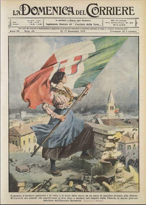 La vittoria del 4 Novembre 1918 mutilata dall'Italia odierna